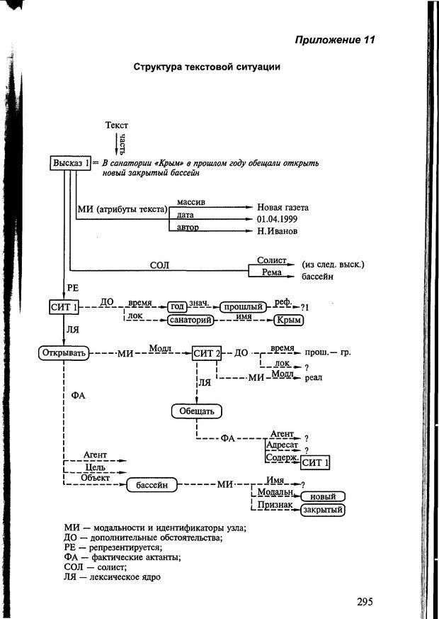 DJVU. Автоматическое понимание текстов. Системы, модели, ресурсы. Леонтьева Н. Н. Страница 295. Читать онлайн