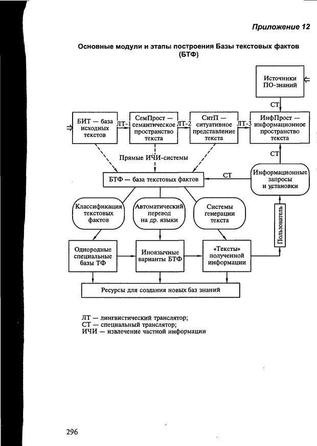 DJVU. Автоматическое понимание текстов. Системы, модели, ресурсы. Леонтьева Н. Н. Страница 296. Читать онлайн