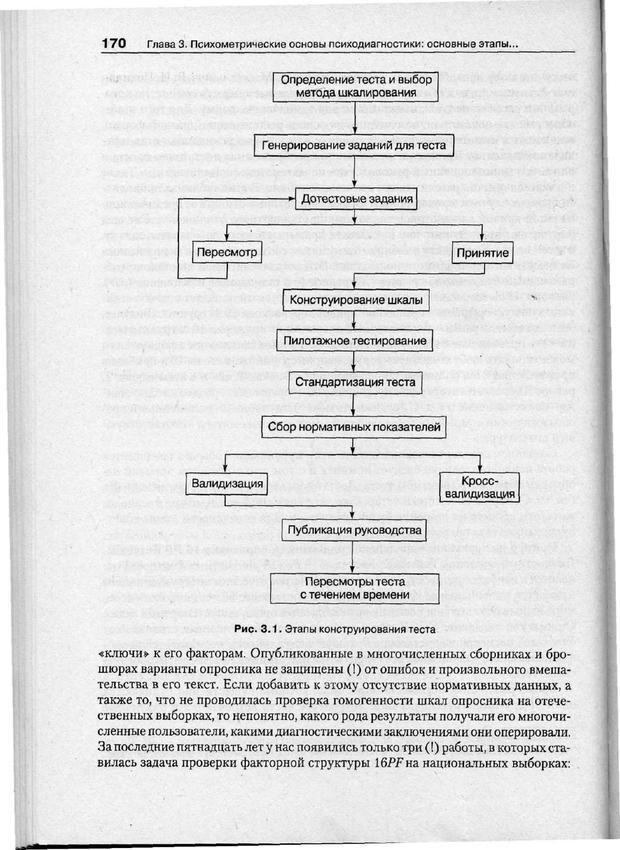 PDF. Психодиагностика. Бурлачук Л. Ф. Страница 171. Читать онлайн
