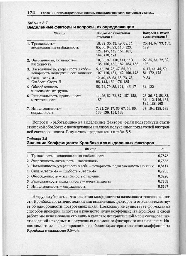 PDF. Психодиагностика. Бурлачук Л. Ф. Страница 175. Читать онлайн