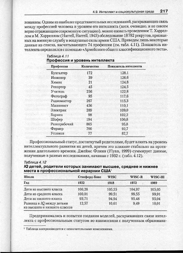 PDF. Психодиагностика. Бурлачук Л. Ф. Страница 218. Читать онлайн