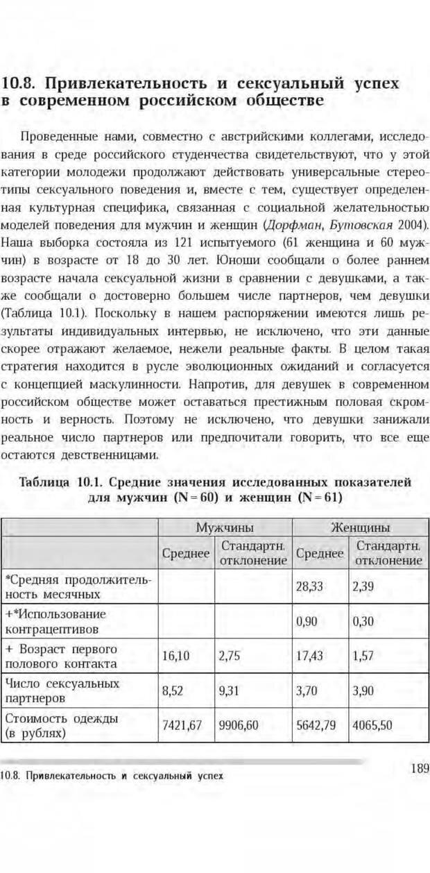 PDF. Антропология пола. Бутовская М. Л. Страница 185. Читать онлайн