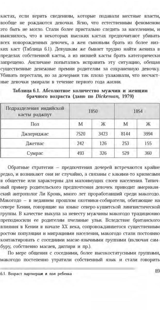 PDF. Антропология пола. Бутовская М. Л. Страница 85. Читать онлайн