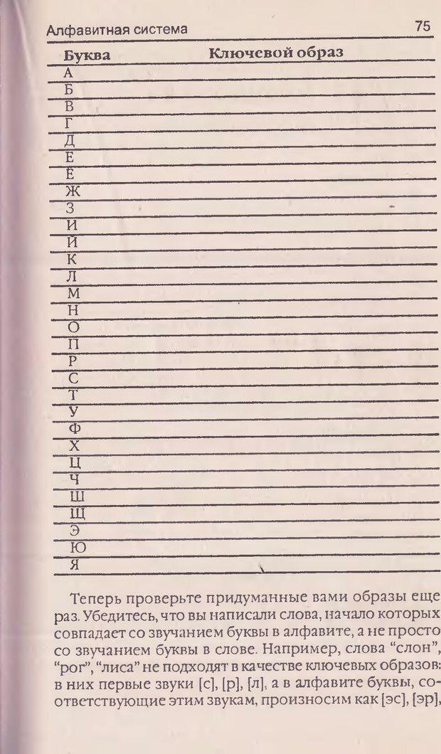 DJVU. Суперпамять. Бьюзен Т. Страница 75. Читать онлайн