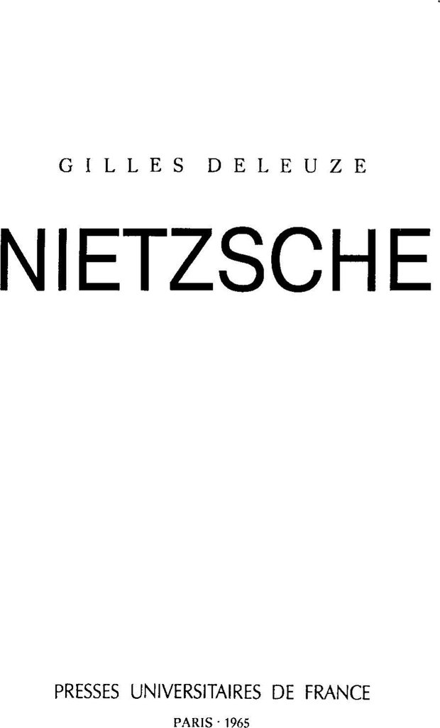 PDF. Ницше. Делёз Ж. Страница 1. Читать онлайн