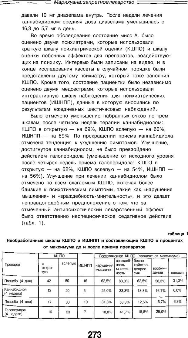 PDF. Марихуана: запретное лекарство. Гринспун Л. Страница 260. Читать онлайн