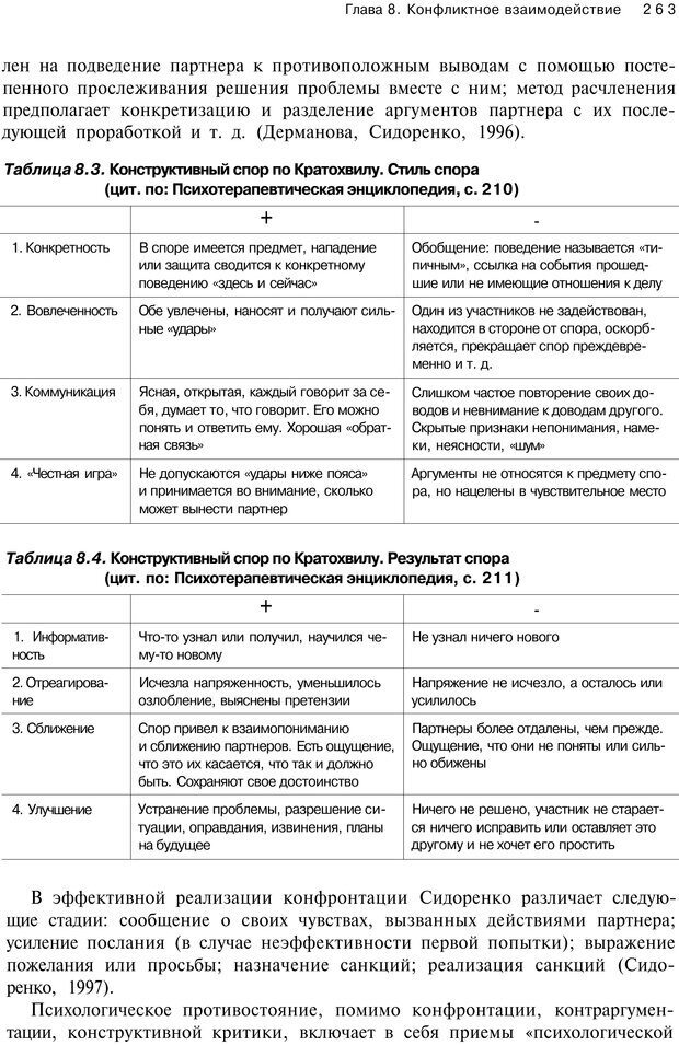 PDF. Психология конфликта. Гришина Н. В. Страница 258. Читать онлайн
