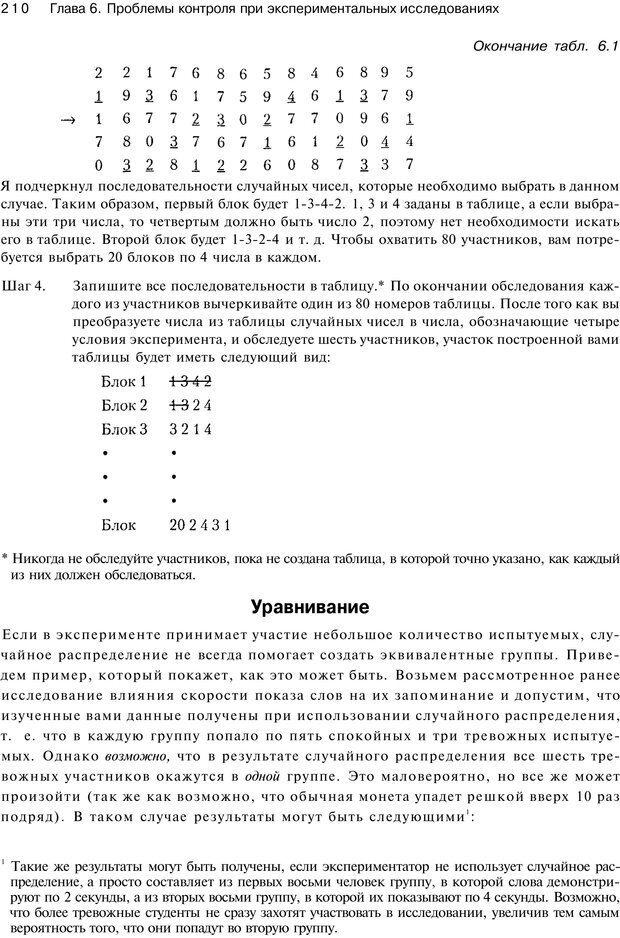PDF. Исследование в психологии. Методы и планирование. Гудвин Д. Страница 209. Читать онлайн
