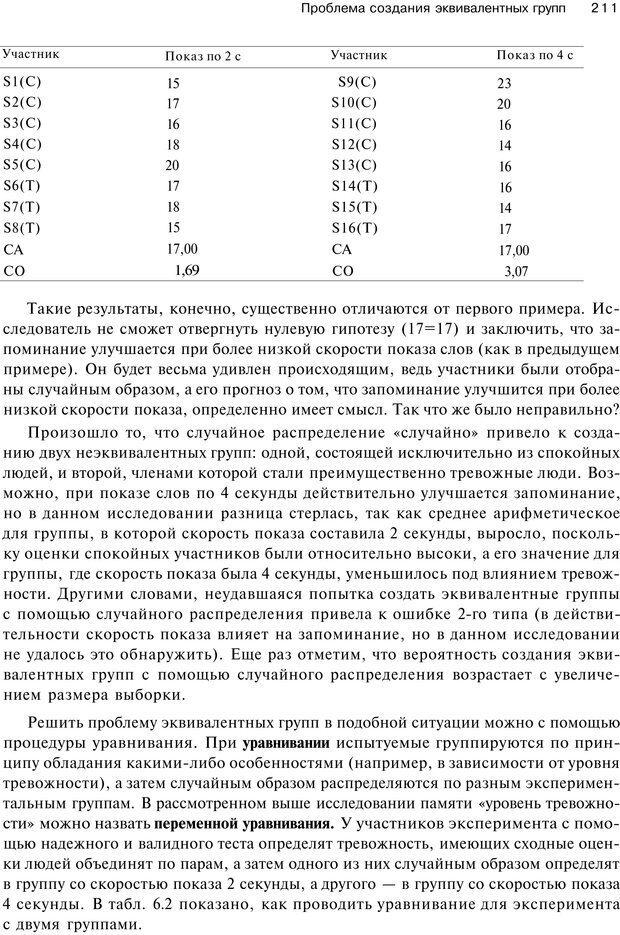 PDF. Исследование в психологии. Методы и планирование. Гудвин Д. Страница 210. Читать онлайн