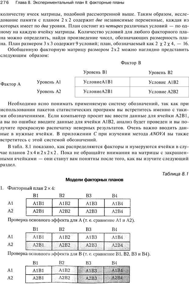 PDF. Исследование в психологии. Методы и планирование. Гудвин Д. Страница 275. Читать онлайн