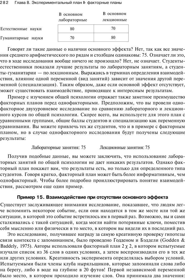 PDF. Исследование в психологии. Методы и планирование. Гудвин Д. Страница 281. Читать онлайн