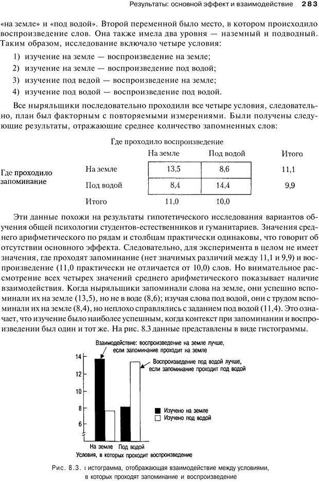 PDF. Исследование в психологии. Методы и планирование. Гудвин Д. Страница 282. Читать онлайн