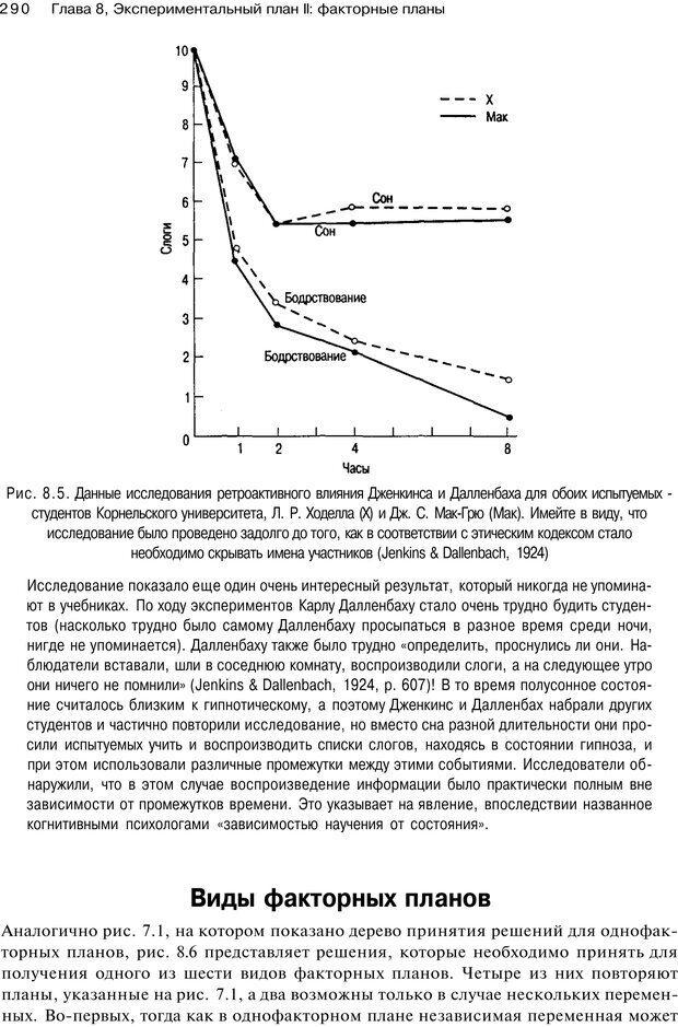 PDF. Исследование в психологии. Методы и планирование. Гудвин Д. Страница 289. Читать онлайн