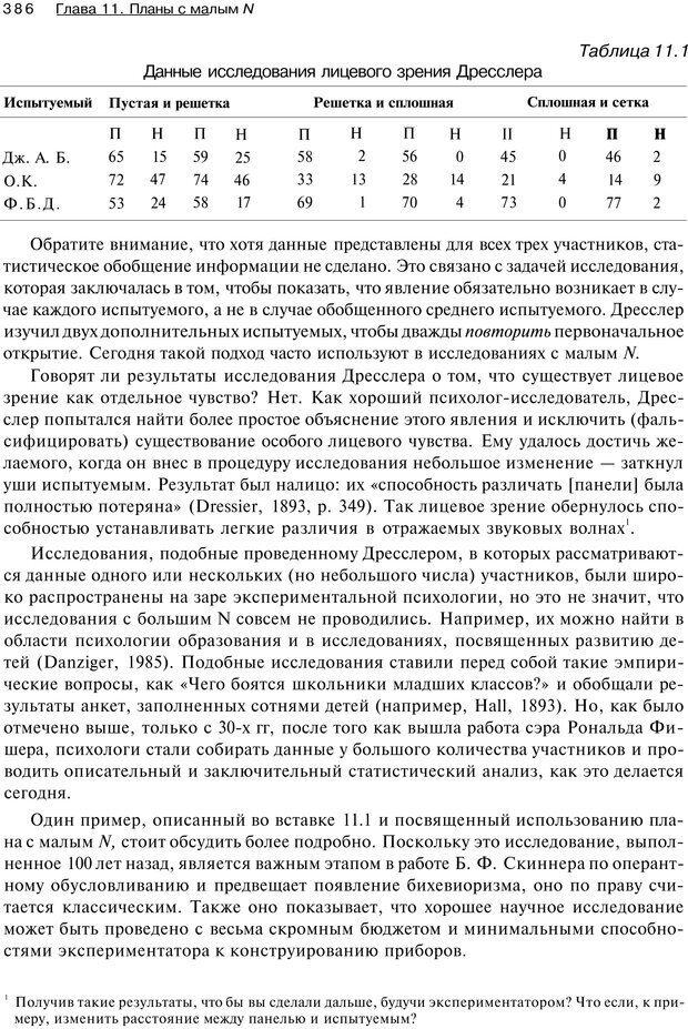 PDF. Исследование в психологии. Методы и планирование. Гудвин Д. Страница 385. Читать онлайн