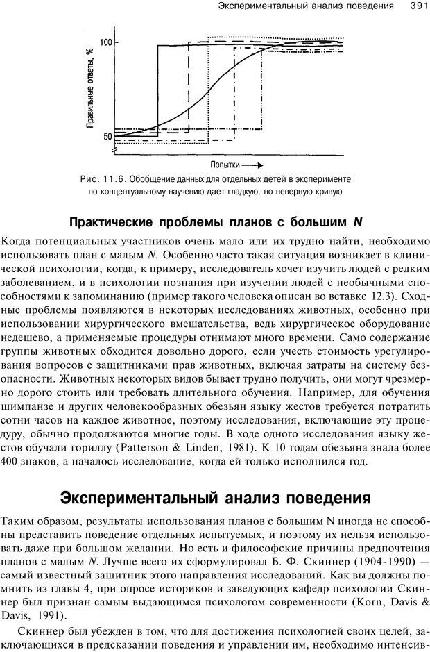PDF. Исследование в психологии. Методы и планирование. Гудвин Д. Страница 390. Читать онлайн