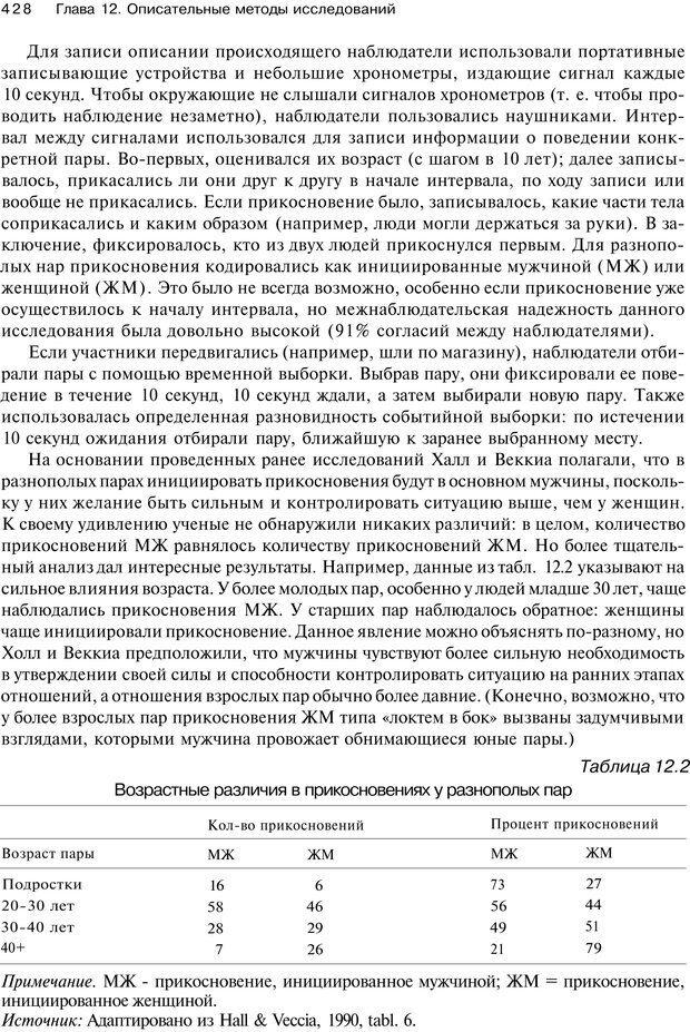 PDF. Исследование в психологии. Методы и планирование. Гудвин Д. Страница 427. Читать онлайн