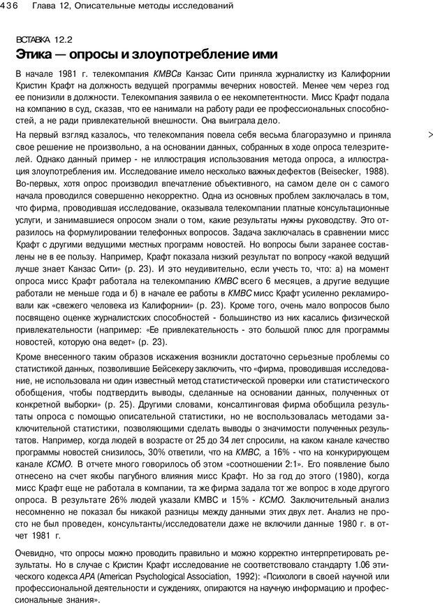 PDF. Исследование в психологии. Методы и планирование. Гудвин Д. Страница 435. Читать онлайн