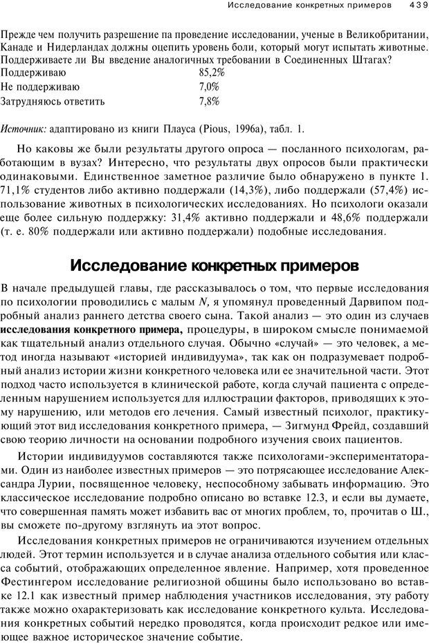 PDF. Исследование в психологии. Методы и планирование. Гудвин Д. Страница 438. Читать онлайн