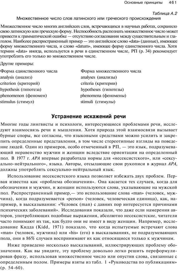 PDF. Исследование в психологии. Методы и планирование. Гудвин Д. Страница 460. Читать онлайн