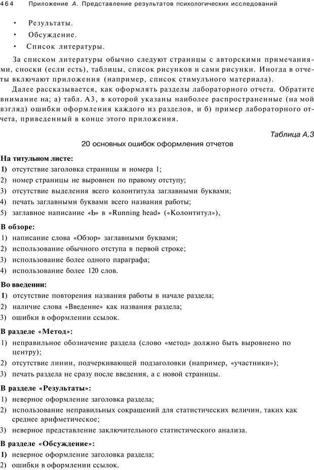 PDF. Исследование в психологии. Методы и планирование. Гудвин Д. Страница 463. Читать онлайн