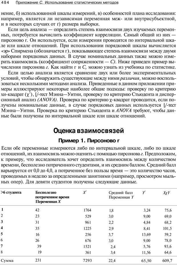 PDF. Исследование в психологии. Методы и планирование. Гудвин Д. Страница 483. Читать онлайн