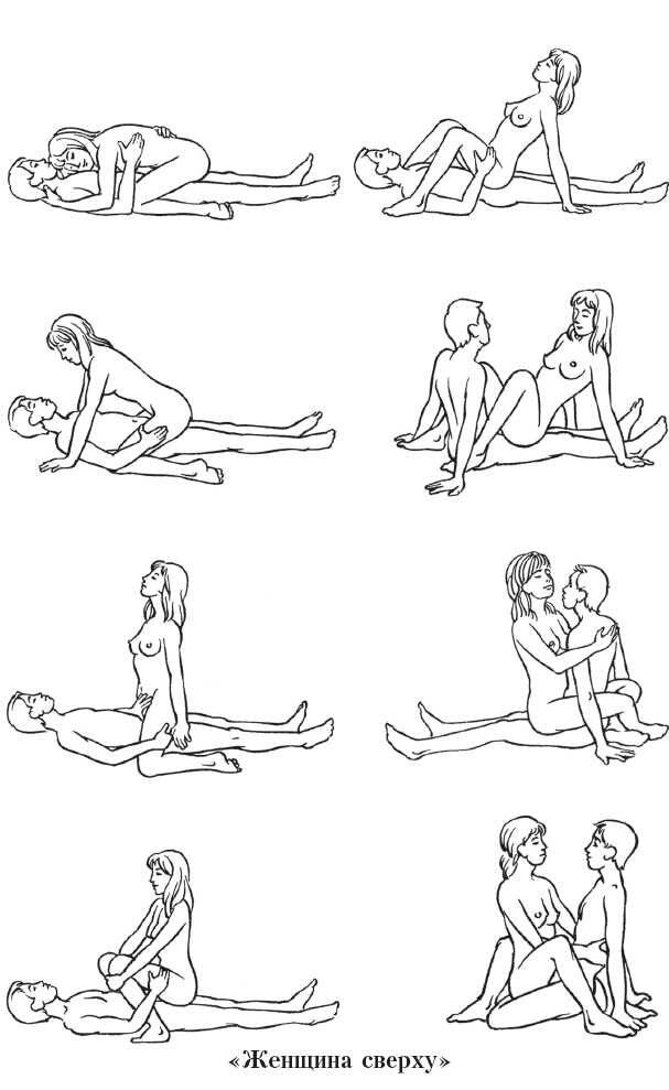 В какой позе заниматься любовью в картинках