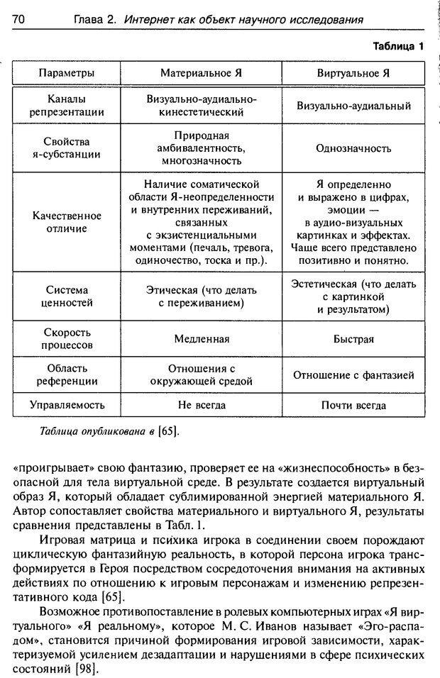DJVU. Психология жителей Интернета. Кузнецова Ю. М. Страница 70. Читать онлайн