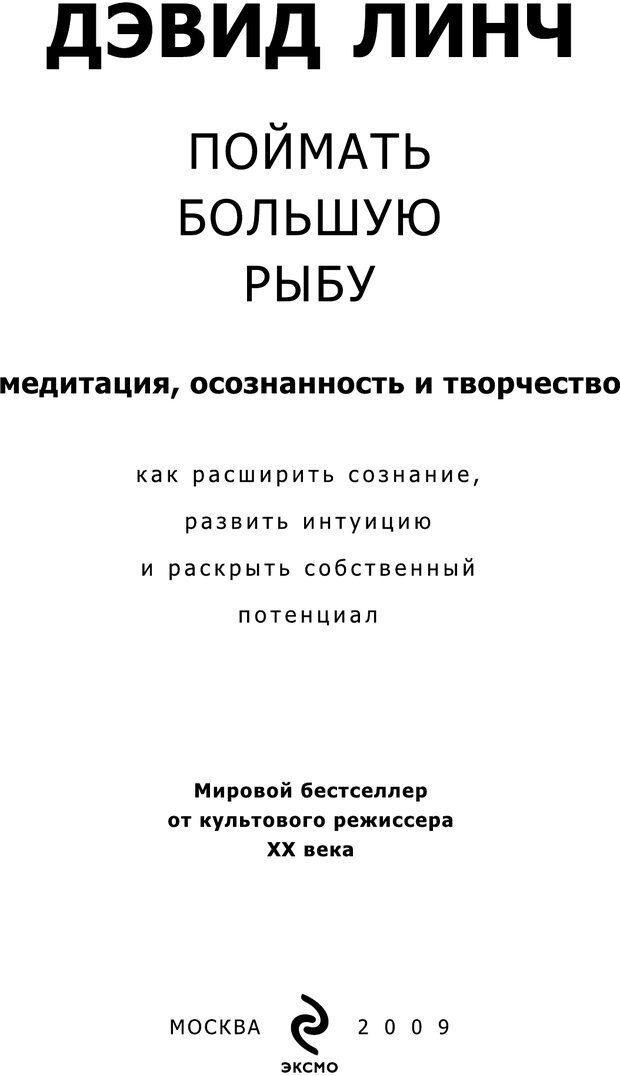 PDF. Поймать большую рыбу. Медитация, осознанность и творчество. Линч Д. К. Страница 2. Читать онлайн