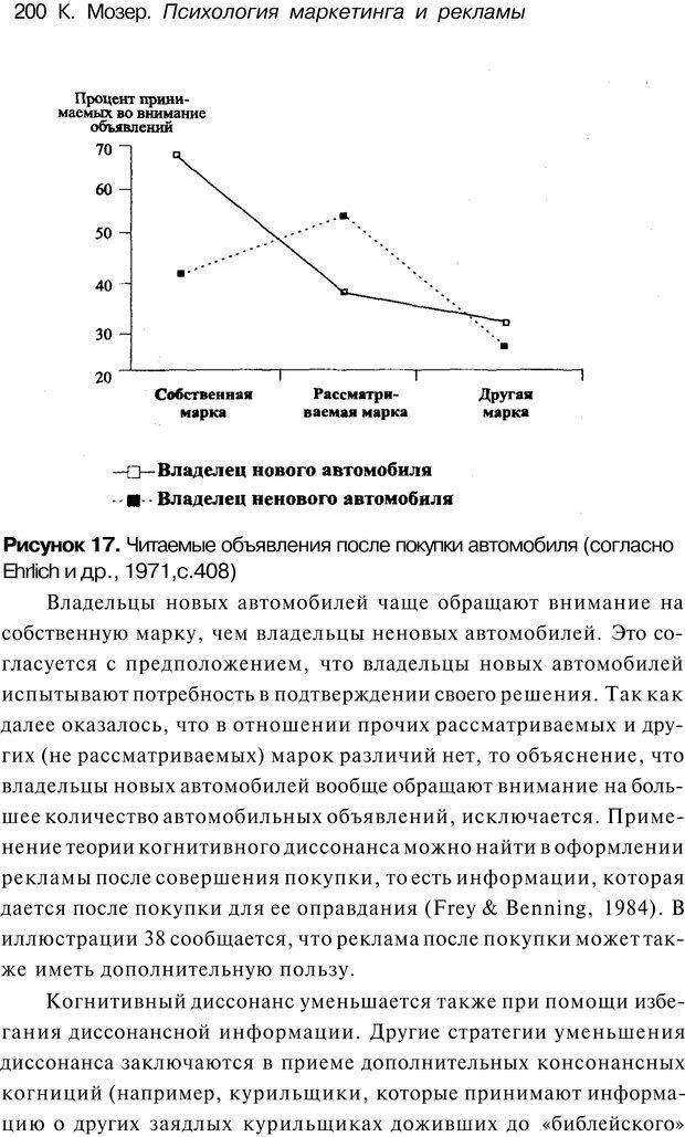 PDF. Психология маркетинга и рекламы. Мозер К. Страница 199. Читать онлайн