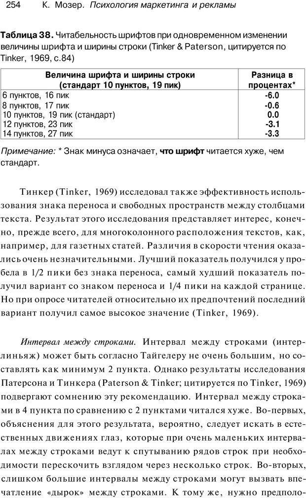 PDF. Психология маркетинга и рекламы. Мозер К. Страница 253. Читать онлайн