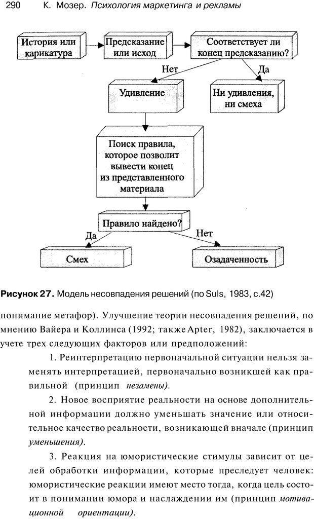 PDF. Психология маркетинга и рекламы. Мозер К. Страница 289. Читать онлайн