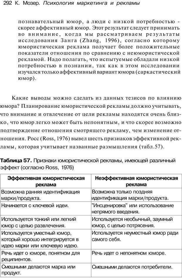 PDF. Психология маркетинга и рекламы. Мозер К. Страница 291. Читать онлайн