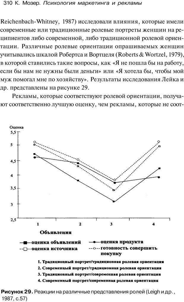 PDF. Психология маркетинга и рекламы. Мозер К. Страница 309. Читать онлайн