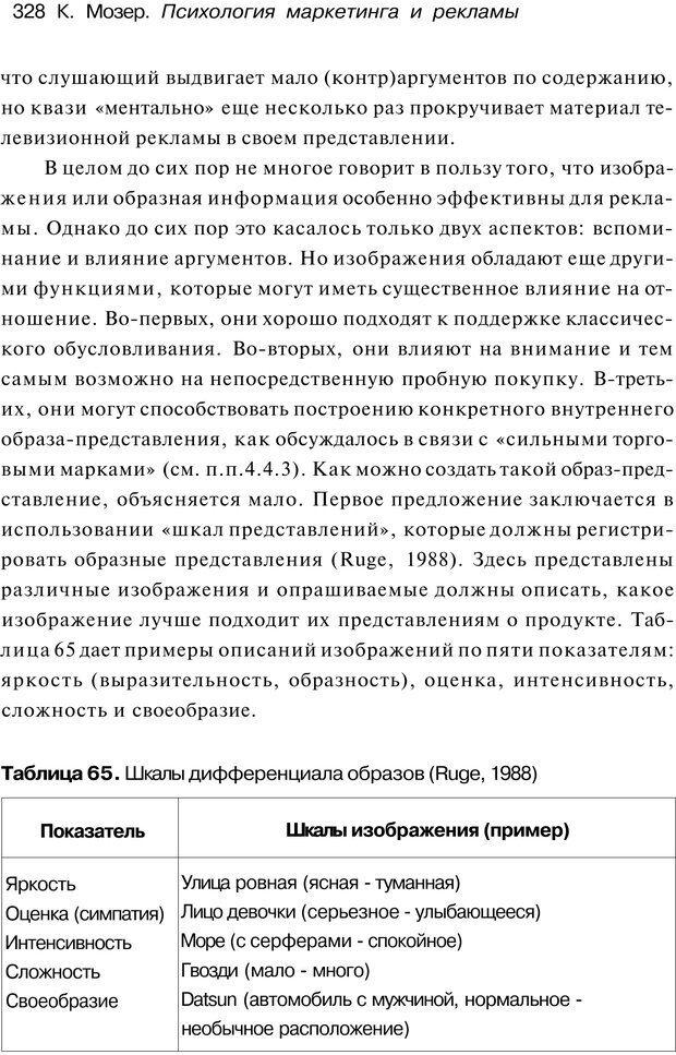 PDF. Психология маркетинга и рекламы. Мозер К. Страница 327. Читать онлайн