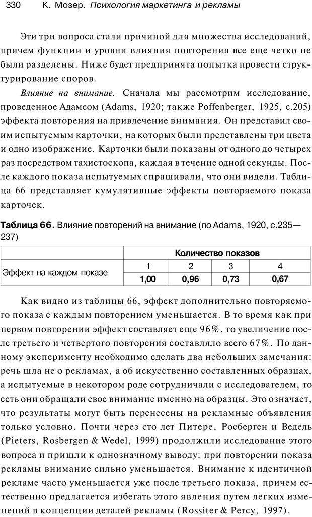 PDF. Психология маркетинга и рекламы. Мозер К. Страница 329. Читать онлайн