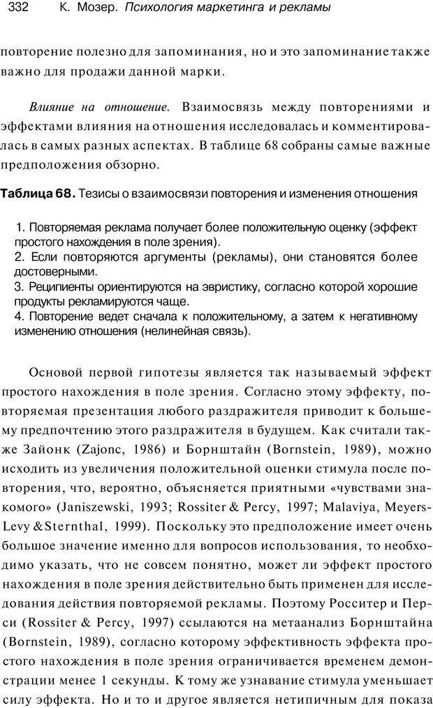 PDF. Психология маркетинга и рекламы. Мозер К. Страница 331. Читать онлайн