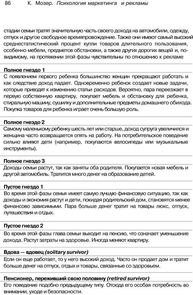 PDF. Психология маркетинга и рекламы. Мозер К. Страница 85. Читать онлайн