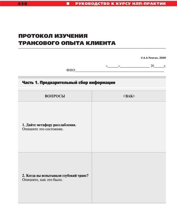 PDF. Руководство к курсу НЛП практик. Плигин А. А. Страница 401. Читать онлайн