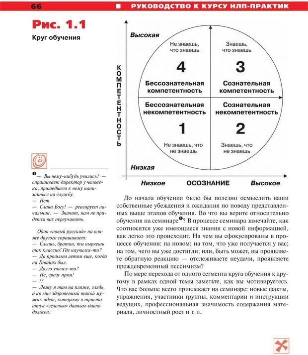 PDF. Руководство к курсу НЛП практик. Плигин А. А. Страница 61. Читать онлайн