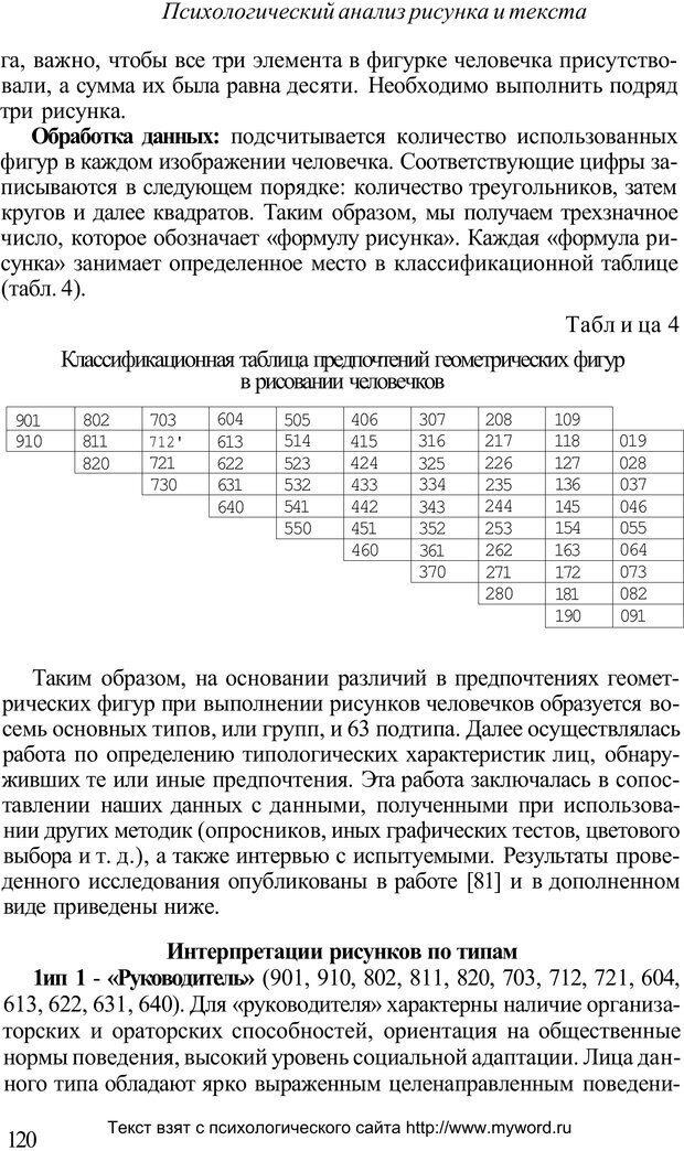 PDF. Психологический анализ рисунка и текста. Потемкина О. Ф. Страница 119. Читать онлайн