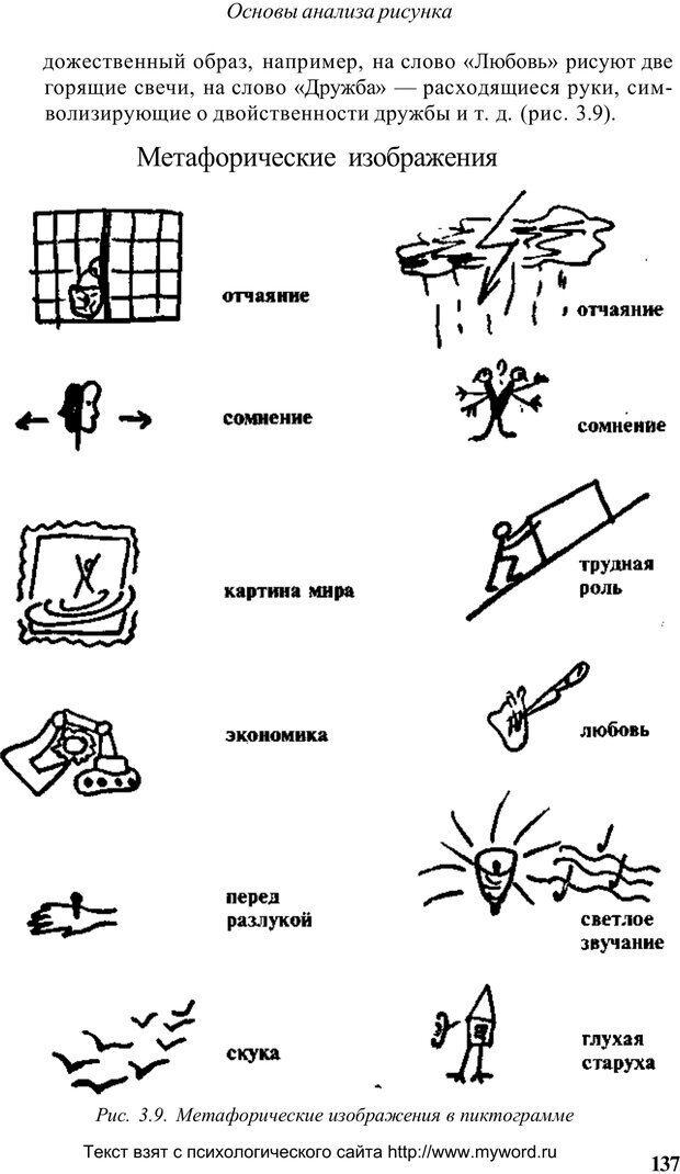 PDF. Психологический анализ рисунка и текста. Потемкина О. Ф. Страница 136. Читать онлайн