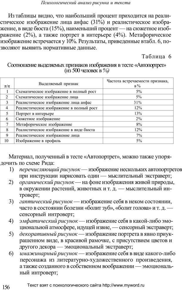 PDF. Психологический анализ рисунка и текста. Потемкина О. Ф. Страница 155. Читать онлайн