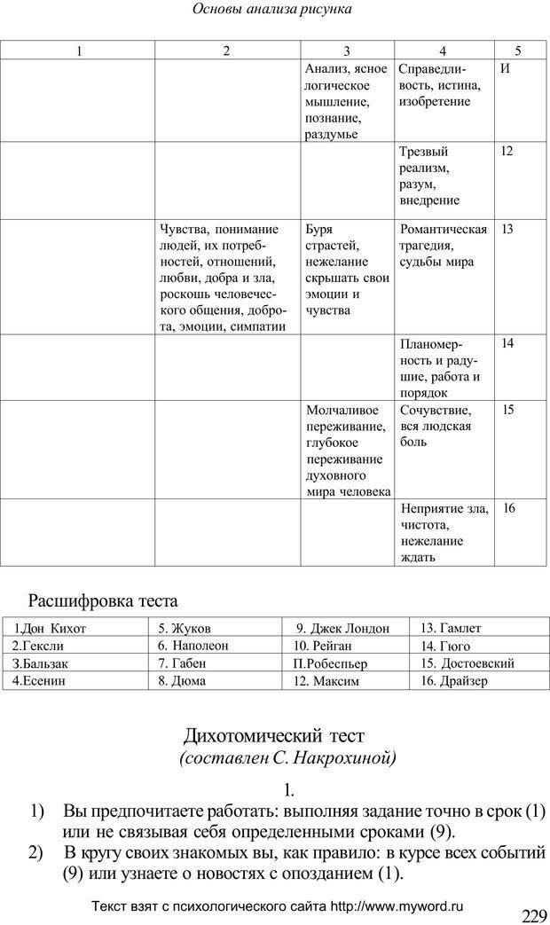 PDF. Психологический анализ рисунка и текста. Потемкина О. Ф. Страница 228. Читать онлайн