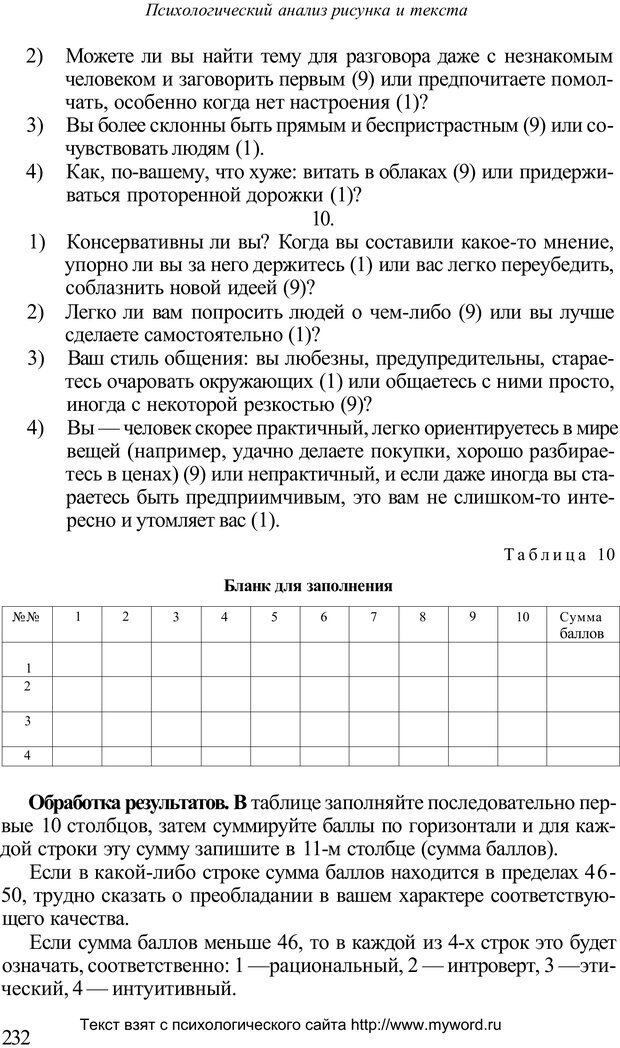 PDF. Психологический анализ рисунка и текста. Потемкина О. Ф. Страница 231. Читать онлайн