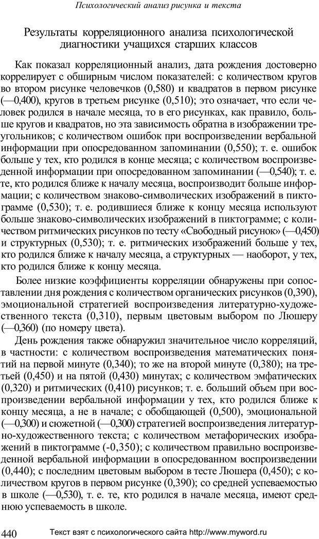 PDF. Психологический анализ рисунка и текста. Потемкина О. Ф. Страница 439. Читать онлайн
