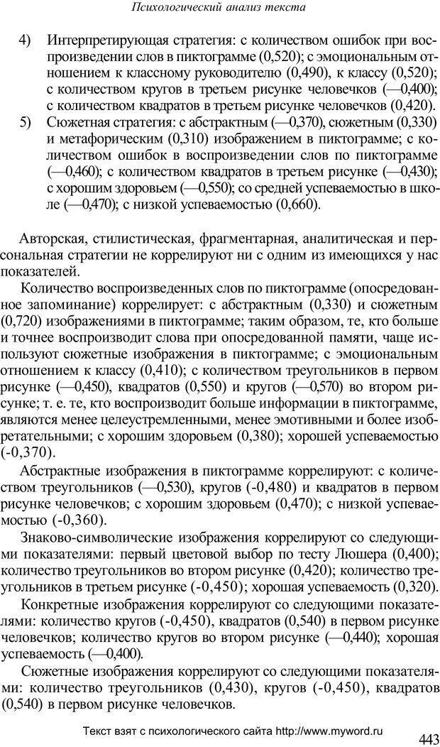 PDF. Психологический анализ рисунка и текста. Потемкина О. Ф. Страница 442. Читать онлайн