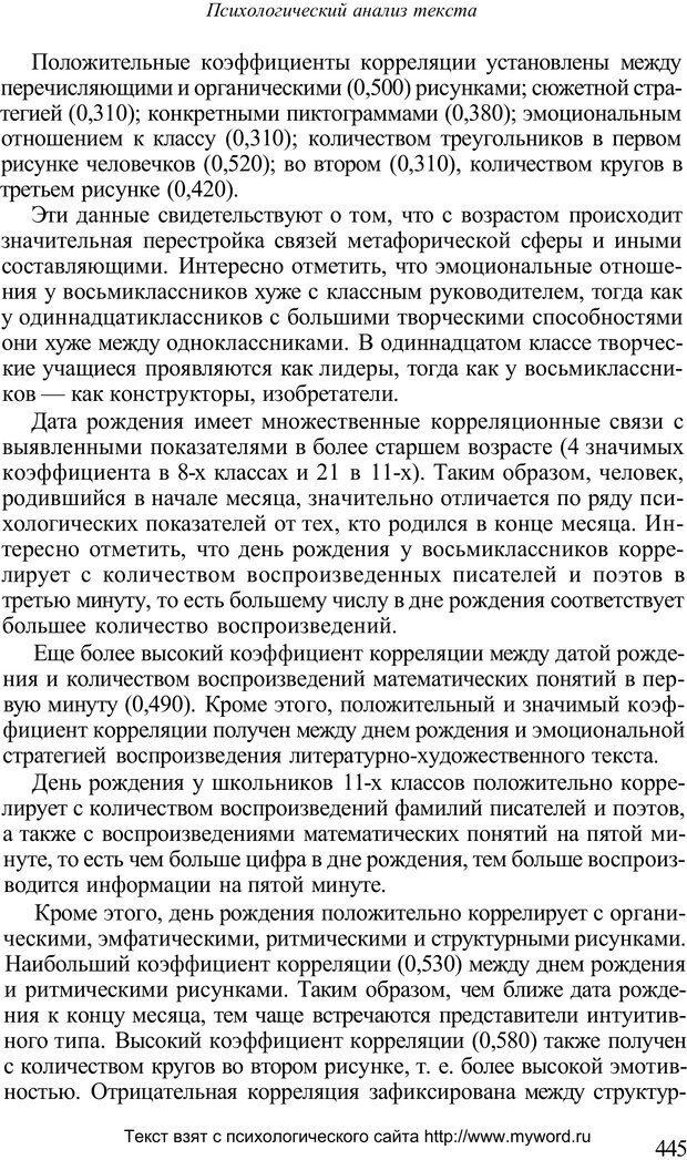 PDF. Психологический анализ рисунка и текста. Потемкина О. Ф. Страница 444. Читать онлайн