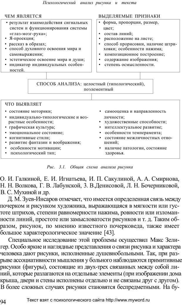PDF. Психологический анализ рисунка и текста. Потемкина О. Ф. Страница 93. Читать онлайн