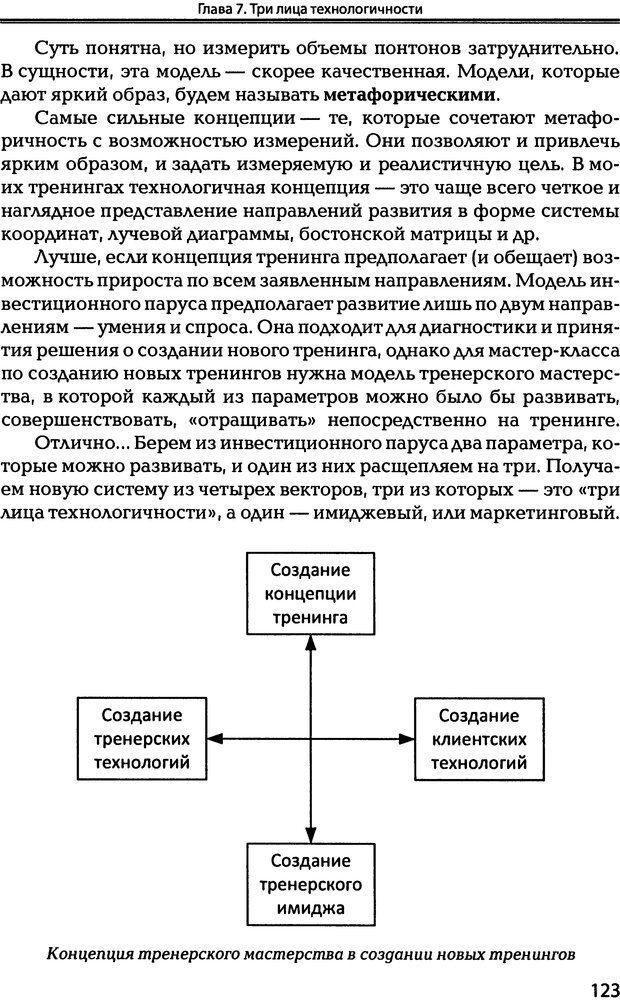 DJVU. Технологии создания тренинга. От замысла к результату [2008, DjVu, RUS]. Сидоренко Е. В. Страница 121. Читать онлайн