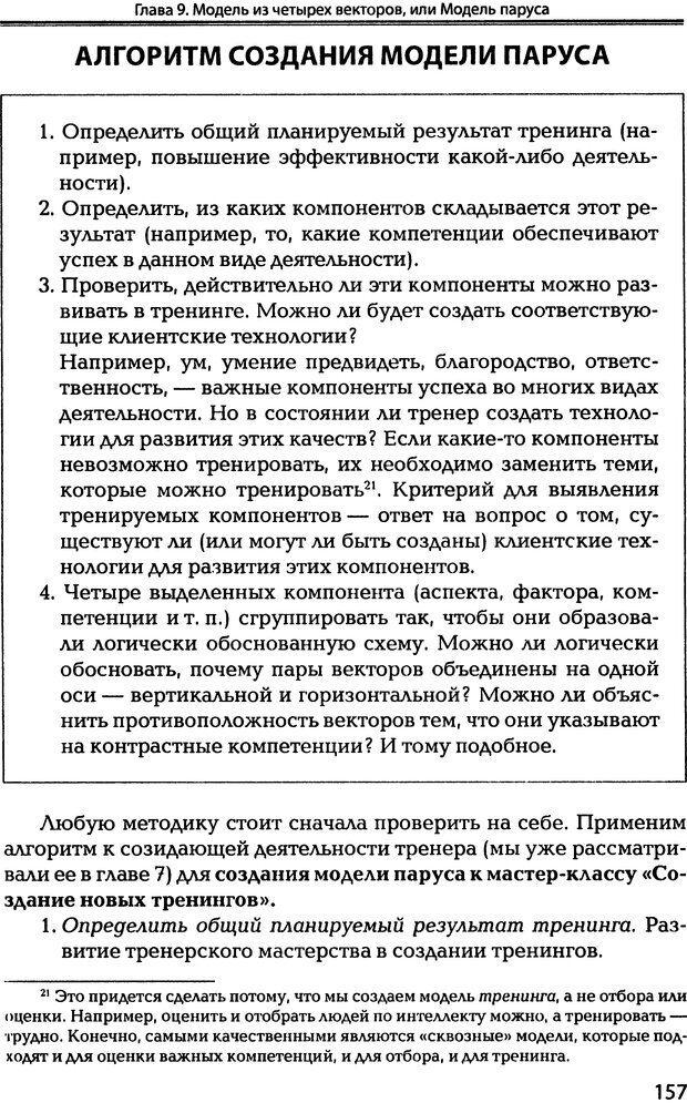 DJVU. Технологии создания тренинга. От замысла к результату [2008, DjVu, RUS]. Сидоренко Е. В. Страница 155. Читать онлайн